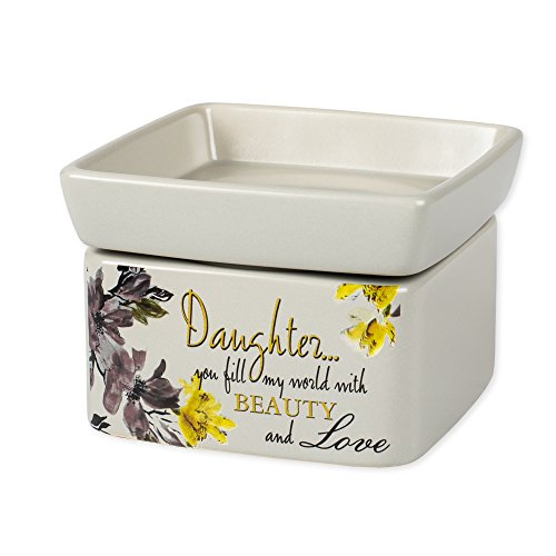 Elanze Designs Daughter Beauty & Love Electric 2 in 1 Jar Candle and Wax and Oil Warmer