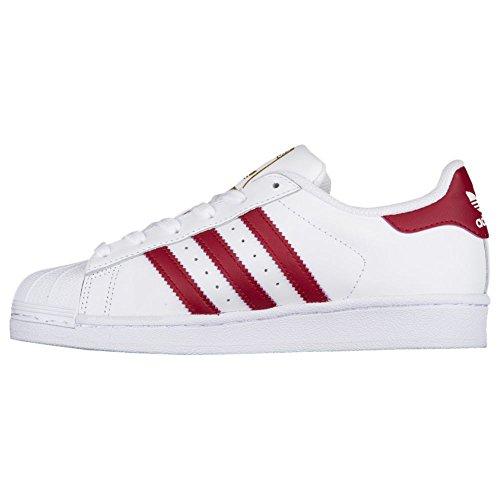 Adidas Originaler Superstjerne FunDamet J Sneaker Hvid / Bordeaux / Guld aMxil6b