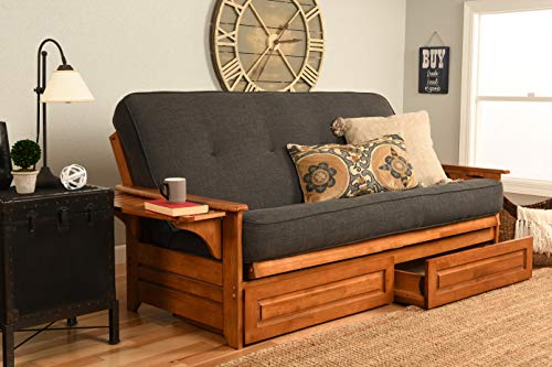 Kodiak Furniture KFPHDBBLCHALF5MD4 Phoenix Futon Set, Full, Barbados