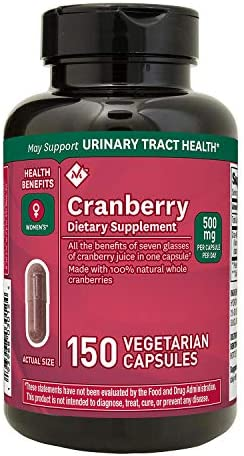 Member s Mark Clinical Strength 500mg Cranberry Dietary Supplement 2 Packs 150 Count. Cranberry Naturally Helps Your Body