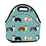 Australian Shepherds Dogs Travel Picnic Lunch Bag Lunchboxes Outdoor Lunch Box Bag Lunch Tote Handbag Convenience For Out 7