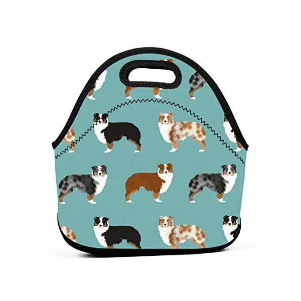 Australian Shepherds Dogs Travel Picnic Lunch Bag Lunchboxes Outdoor Lunch Box Bag Lunch Tote Handbag Convenience For Out 1