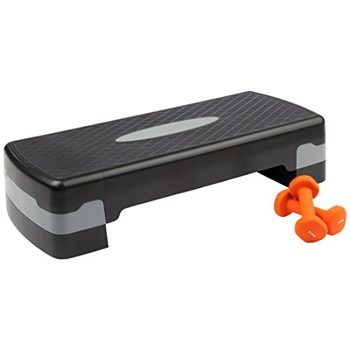 Ultrasport Aerobics Step with Two Vinyl Dumbbells by Ultrasport