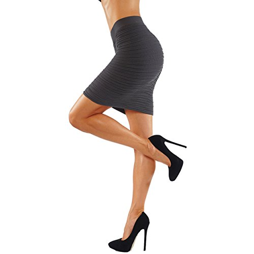 Gray Stretch Skirt - 9