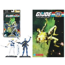 G.I. Joe 25th Anniversary Comic Pack - Snake Eyes Versus Storm Shadow - Silent (25th Snake Eyes)