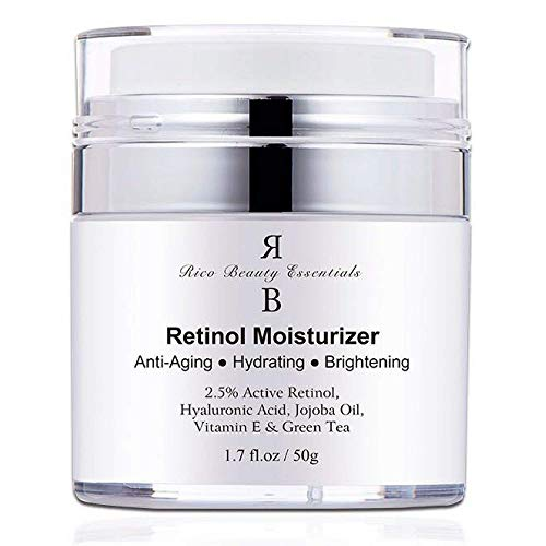 Retinol Moisturizer Cream for Face - With Retinol , Hyaluronic Acid, Vitamin E and Green Tea. Best Anti- Aging Night and Day Time Moisturizing Cream 1.7 FL Oz