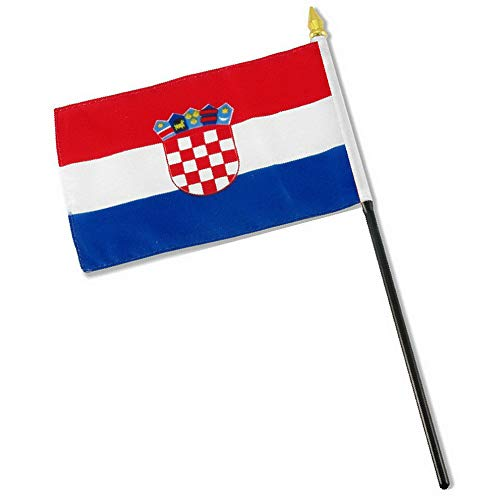 Kaputar 4x6 Croatia Stick Flag Table STF Desk Table | Model FLG - 7710 ()