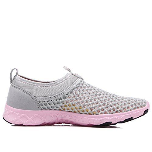 Water Pool Ladies Aqua Beach Shoes for Casual Bornran Pink Athletic Sneakers Exercise Grey Women AqFEwWdI