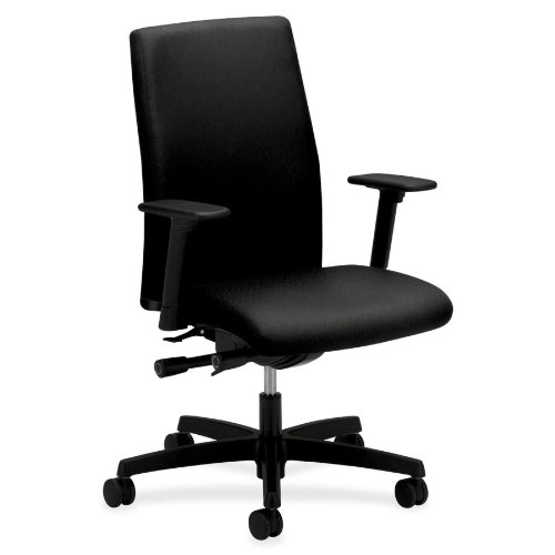 Hon Mid-Back Executive Chairs, 27 by 29 by 44-1/4-Inch, Blac