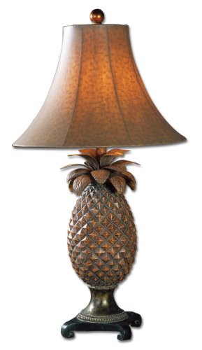 Uttermost 27137 Anana Table Lamp 16 x 16 x 31, Brown, 31.0