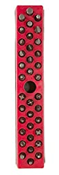 Olsa Tools | Hex Bit Organizer with Strong Magnetic Base | Premium Quality Hex Bit Holder (Red)