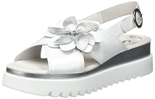 Blanco Mujer Gabor Gabor Ice Pulsera con Jollys para Weiss Sandalia Shoes 884ATr60
