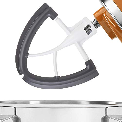 Gvode Flex Edge Beater for KitchenAid Tilt-Head Stand Mixer 4.5-5 Quart -Flat Beater with Flexible Edge - Metal Dough Blade