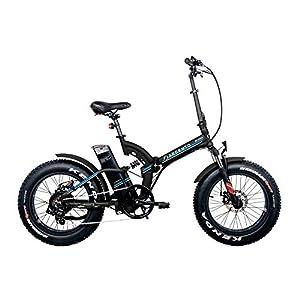 41v%2BVRFSd%2BL. SS300 Argento Bike-Bimax Blu, e-bike pieghevole fat, Nero, ruote 20''