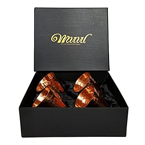Moscow Mule Copper Shot Glasses Set Of 4-100% Pure Copper Handmade Hammered Shot Glasses in Gift box,With Food Safe Protection Lining ! Includes 4 – Copper Shot Glasses – MUUL by VacFlow