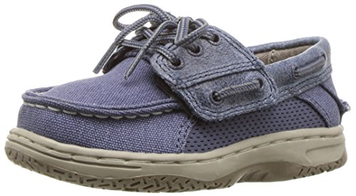 Sperry Billfish Alternative Closure Boat Shoe (Toddler/Little Kid), Slate Blue, 5 M US Toddler