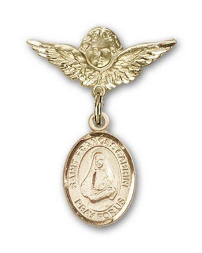 Icecarats Or Bijoux De Créateurs Rempli R. Francesca Cabrini Charme Ange Broche De Badge 1 X 3/4
