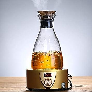 Botella de cristal transparente fumak de 50 onzas, resistente a altas temperaturas, jarra,