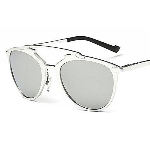 Yxsd Unisex Estilo Retro Lente Fashion La Shades La Men's Sunglasses UV400 Color Plata Designer Aviator Ladies Plata 80s rwYrgq7