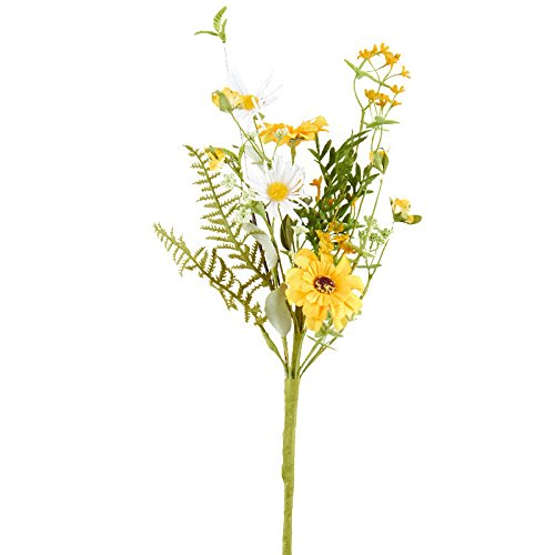 4 Artificial Daisy and Wildflower Sprays for Floral (Wild Daisy)