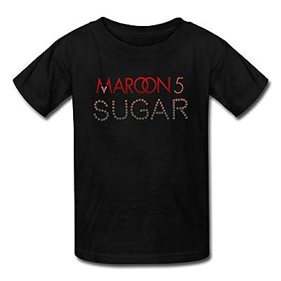 VAVD Youth Sugar Maroon 5 Kids Boys And Girls Short Sleeves T-Shirt