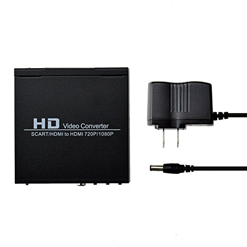 Scart Video (Scart Hdmi to Hdmi Video Converter Box 1080p Scaler 3.5mm Coaxial Audio Out)