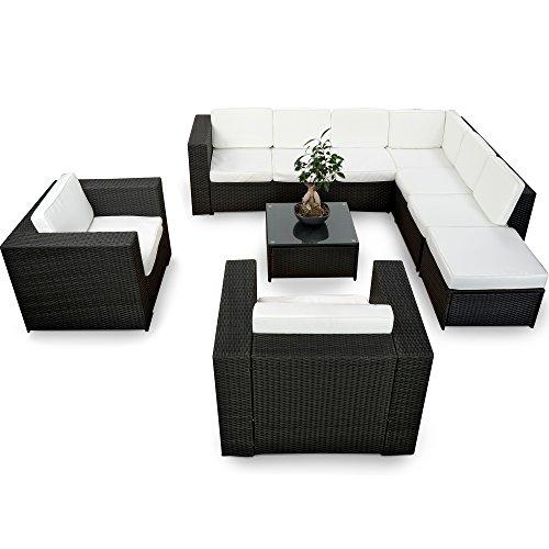 Loungemöbel outdoor günstig  Amazon.de: XINRO XXXL 25tlg. Polyrattan Gartenmöbel Lounge Möbel ...