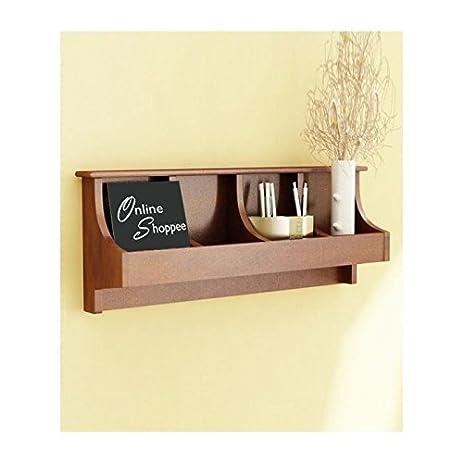 Amazon.com: Onlineshoppee Wooden Wall Decor Wall Shelf Rack/Bracket ...
