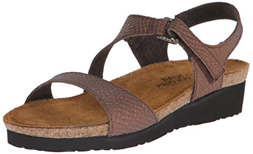 Damen Eidechse Pamela Grey Footwear Lizard Braune Ledersandale Naot Zfqnxpw5an