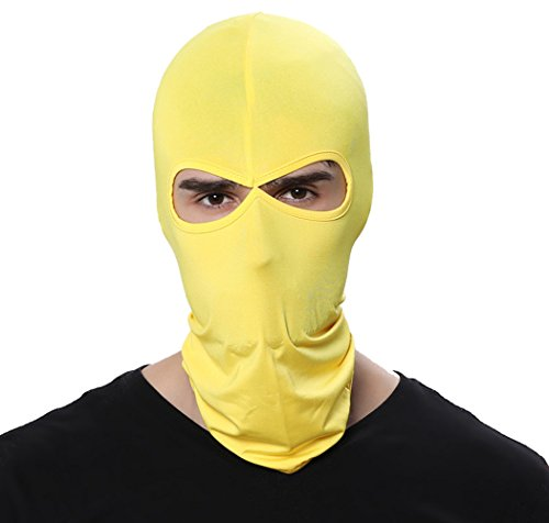 GANWAY Wind Cap Motorcycle Ski Masks Balaclavas Outdoor Sports Cycling Hat (Yellow)