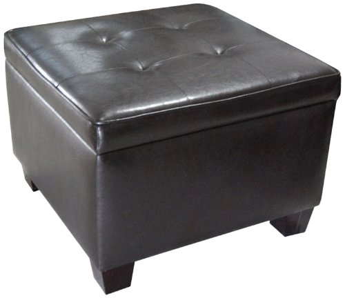 ORE International HB4116 Storage Ottoman, Dark Brown