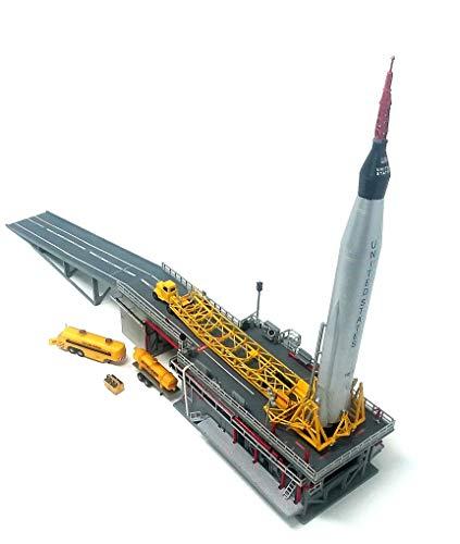Atlas Rocket Plastic Model Kit with Launch Pad and Mercury Capsule STEM a Salute to John Glenn Atlantis from Atlantis