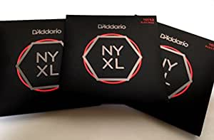 d 39 addario guitar strings 3 pack nyxl 1052 electric light heavy gauge 10 52 musical. Black Bedroom Furniture Sets. Home Design Ideas