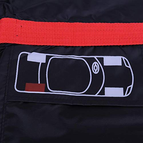 LoLa Ling 4pcs Car Auto Spare Tire Wheel Protection Covers Black and Red Storage Bags Carry Tote Cover Vehicle Wheel Protector by LoLa Ling (Image #5)