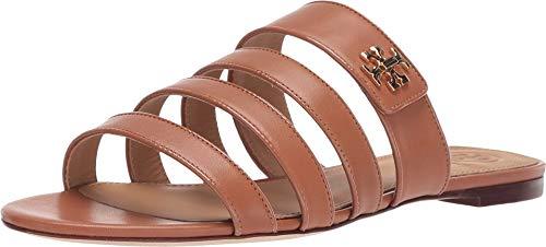 Tory Burch Women's Tan Leather Kira Slides Flat Shoes Sandals (9 M US)