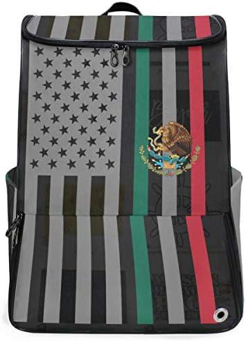 リュック メンズ レディース リュックサック 3way バックパック 大容量 ビジネス 多機能 メキシコの国旗 イーグル スクエアリュック シューズポケット 防水 スポーツ 上下2層式 アウトドア旅行 耐衝撃