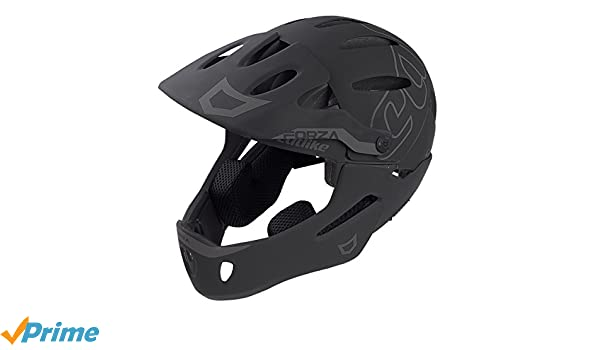 Amazon.com : CATLIKE Forza Bike Helmet with Chin Protection, Black, Large : Sports & Outdoors