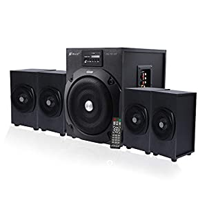 OBAGE 4.1 HT-101 Home Theater Bluetooth System with Bluetooth 5.0, Dual AUX,USB,MMC, FM Playback