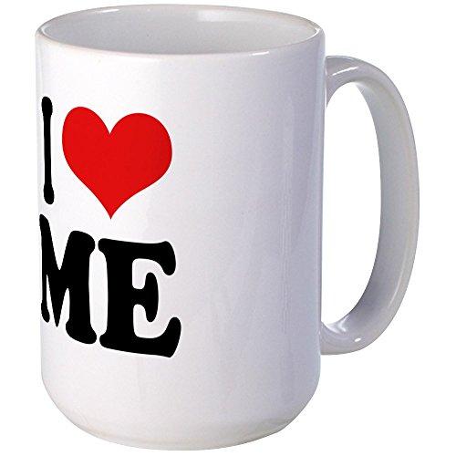 CafePress - I Love Me Large Mug - Coffee Mug, Large 15 (Ego Cup)