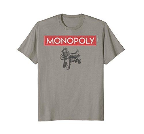 Hasbro Monopoly Scottie Dog With Logo T-Shirt (Dog T-shirt Scottie)