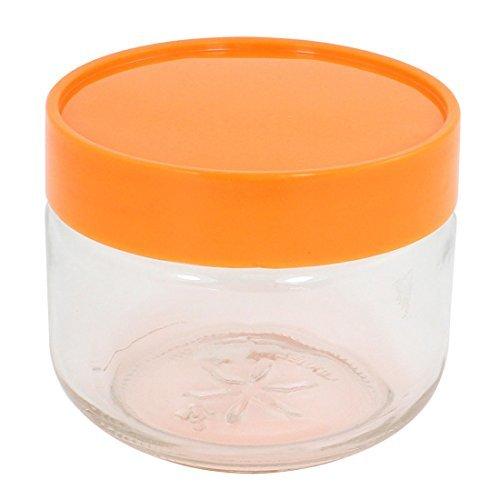 eDealMax couvercle en plastique Bouteille en verre bonbons de feuilles de thé Joint pot de stockage Canister 450ML (Et Feuille Pot)