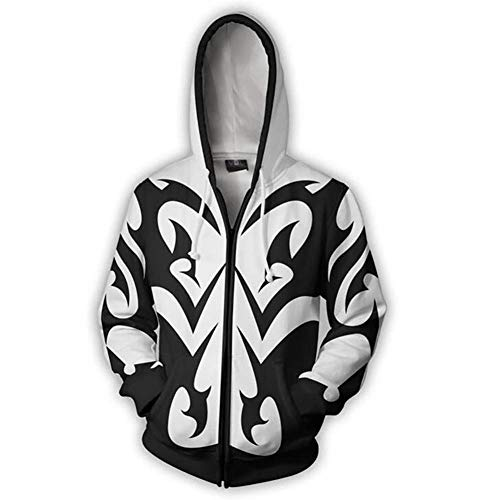 Unizero Kingdom Hearts Hoodie – Halloween Xemnas Zip-UP Jacket Outwear -