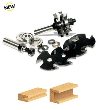 Timberline TRS-310 Multi 3-Wing 1/2-Inch Slot Cutter Router Bit Set ()