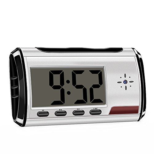 Aisoul Hidden Camera Clock Spy Camera Long Time Video Recording Security Camera Nanny Cam