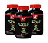 Brain and Memory Power Boost - Asparagus Young Shoots Extract 600 MG - Digestion Vitamins - 3 Bottles 300 Capsules