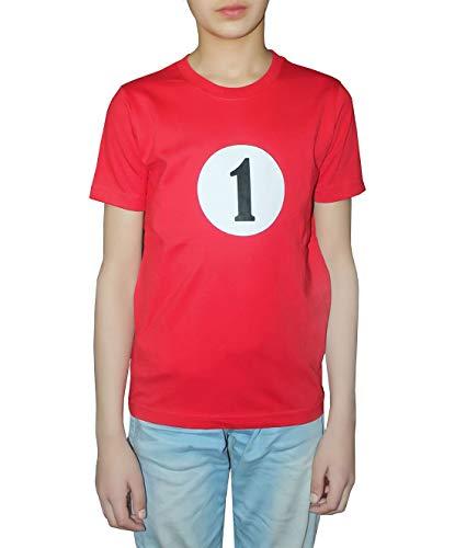 de impreso os estampado manga corta 21fashion con ni Camisa 1 para rojo Rojo xz75wO