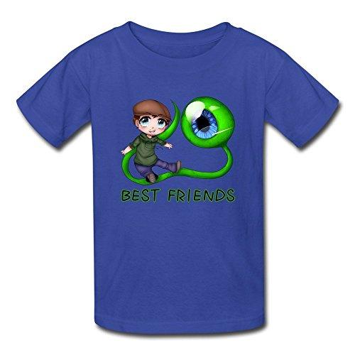 DASY Unisex O Neck Jacksepticeye Sam Best Friends Shirts Medium RoyalBlue 6-16 Years Old