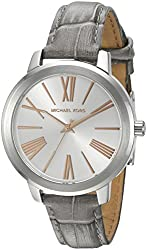 Michael Kors Watches Hartman Leather and Stainless Steel 3 Hand Watch
