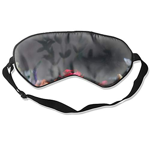 Lovely Floral Eyeshade with Adjustable Strap for Women Men (Eye Hydra Floral)