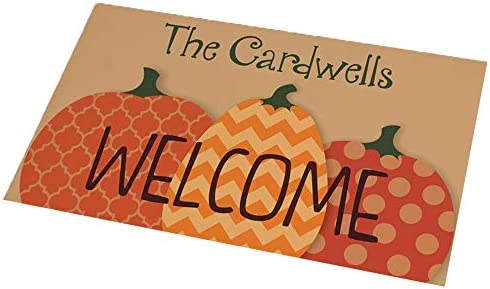 GiftsForYouNow Fall Harvest Personalized Doormat, 18 x 30